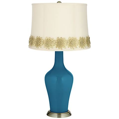 Bosporus Anya Table Lamp with Flower Applique Trim