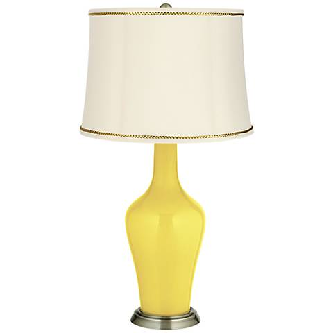 Lemon Twist Anya Table Lamp with President's Braid Trim