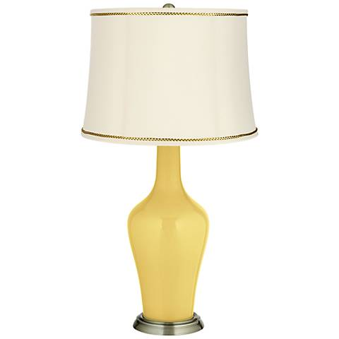 Daffodil Anya Table Lamp with President's Braid Trim