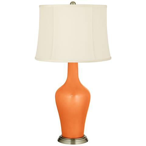 Burnt Orange Metallic Anya Table Lamp