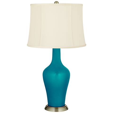 Turquoise Metallic Anya Table Lamp