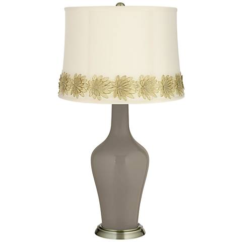 Backdrop Anya Table Lamp with Flower Applique Trim