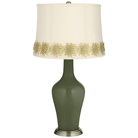 Secret Garden Anya Table Lamp with Flower Applique Trim