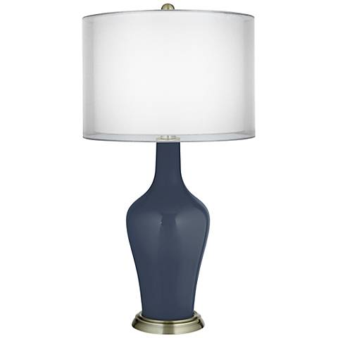 Naval Double Sheer Silver Shade Anya Table Lamp