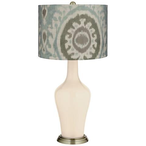 Steamed Milk Blue Batik Paisley Anya Table Lamp