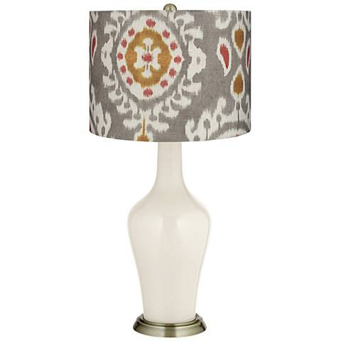 West Highland White Gray Batik Paisley Anya Table Lamp