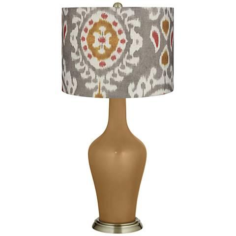 Gray Batik Paisley Gray Batik Paisley Anya Table Lamp