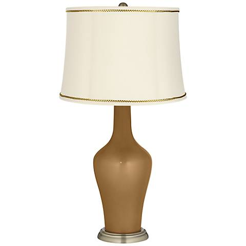 Light Bronze Metallic Anya Lamp with President's Braid Trim