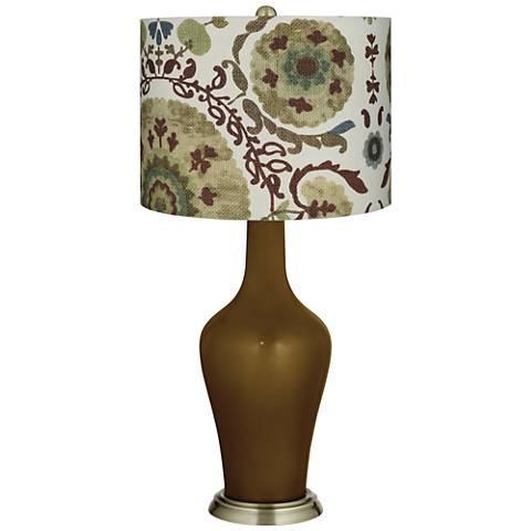 Green Floral Paisley Green Floral Paisley Anya Table Lamp