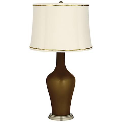 Bronze Metallic Anya Table Lamp with President's Braid Trim