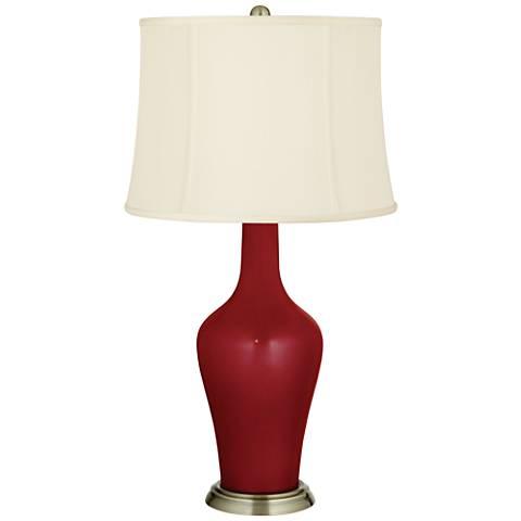 Cabernet Red Metallic Anya Table Lamp