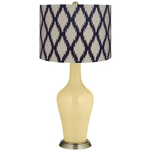 Butter Up Beige Diamonds Anya Table Lamp