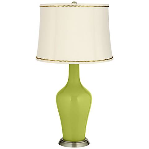 Parakeet Anya Table Lamp with President's Braid Trim