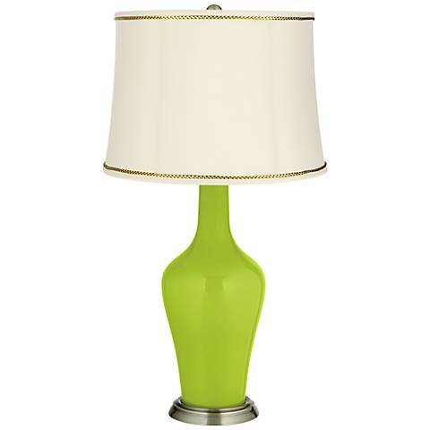 Tender Shoots Anya Table Lamp with President's Braid Trim