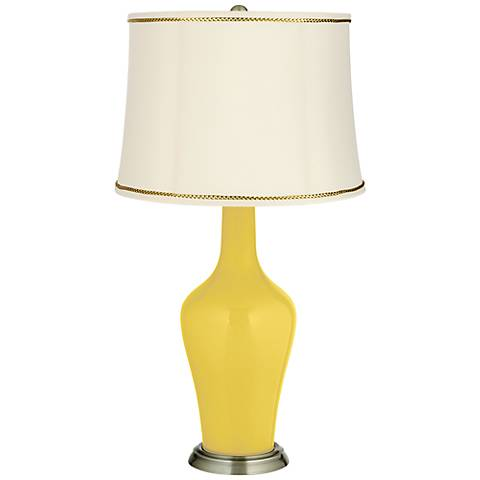 Lemon Zest Anya Table Lamp with President's Braid Trim