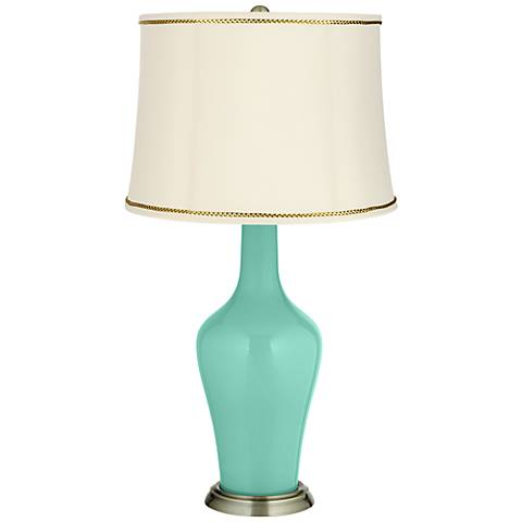 Larchmere Anya Table Lamp with President's Braid Trim