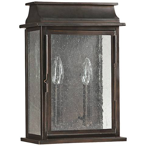 "Capital Bolton 13 3/4"" High Old Bronze Outdoor Wall Light"