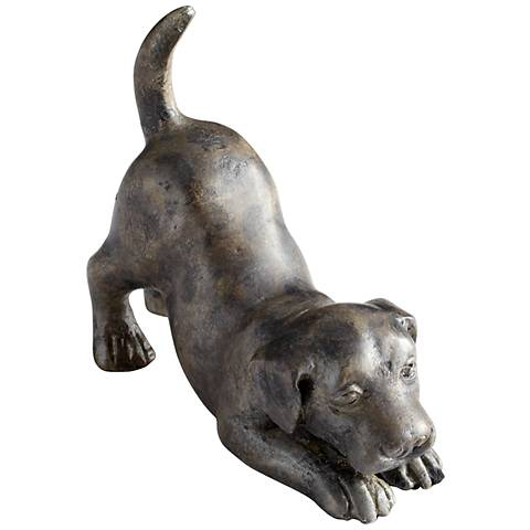 "Hershey 4 3/4"" Wide Iron Retriever Puppy Dog Figurine"