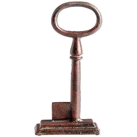 "Key 1 Rustic Iron 10"" High Sculpture"