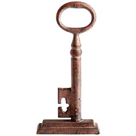"Key 2 Medium Rustic Iron 10 1/4"" High Sculpture"