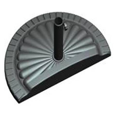 Black Polystone Base for Half Patio Umbrellas
