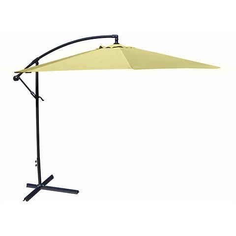 10-Foot Offset Umbrella in Canary Polyester