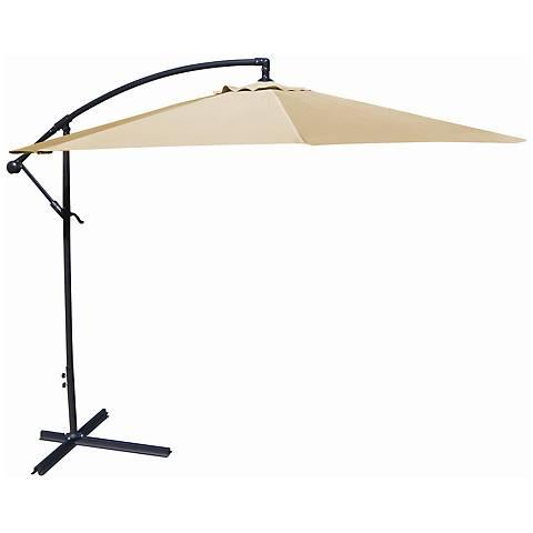 10-Foot Offset Umbrella in Khaki Polyester