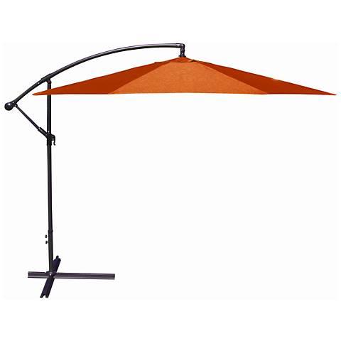 10-Foot Offset Umbrella in Orange Polyester