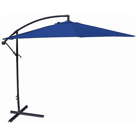 10-Foot Offset Umbrella in Royal Polyester