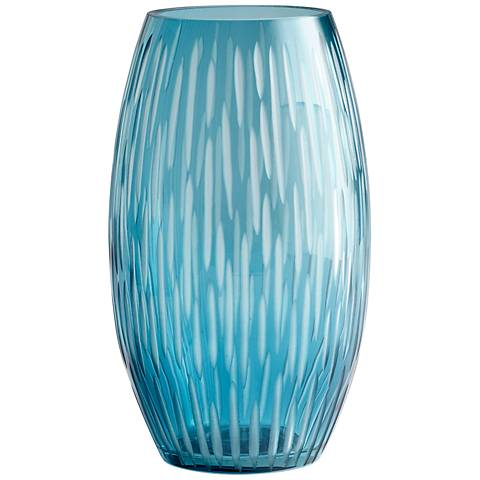 "Large Klein 12"" High Glass Vase"