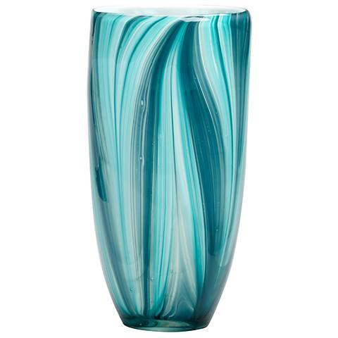 "Small Turin 10 1/4"" High Glass Vase"