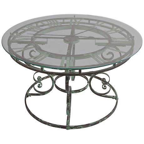 Uttermost Gilbertine Working Clock Coffee Table