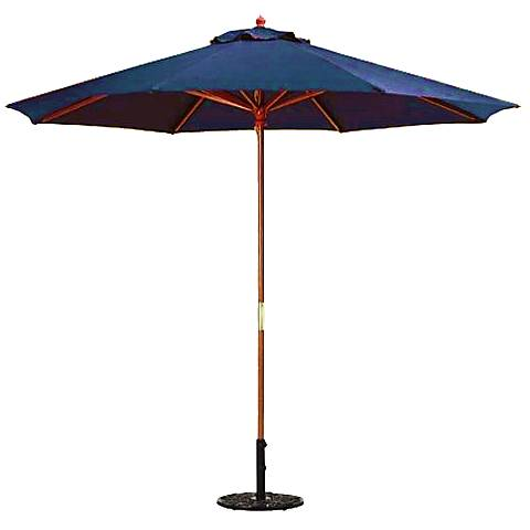 Royal Blue 9-Foot Round Market Umbrella