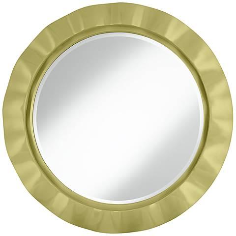 """Linden Green 32"""" Round Brezza Wall Mirror"""