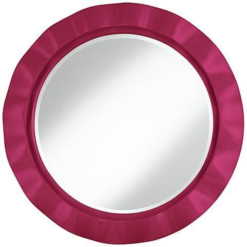 """Vivacious 32"""" Round Brezza Wall Mirror"""