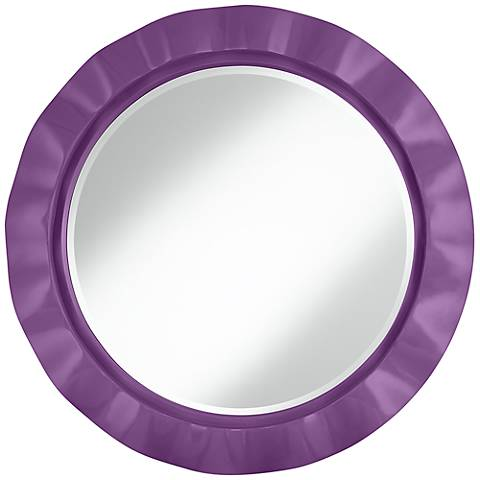 "Passionate Purple 32"" Round Brezza Wall Mirror"