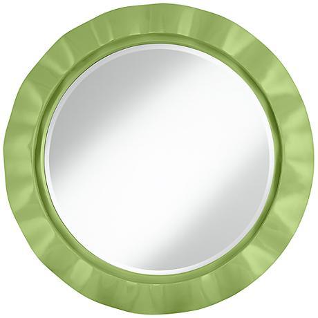 "Lime Rickey 32"" Round Brezza Wall Mirror"