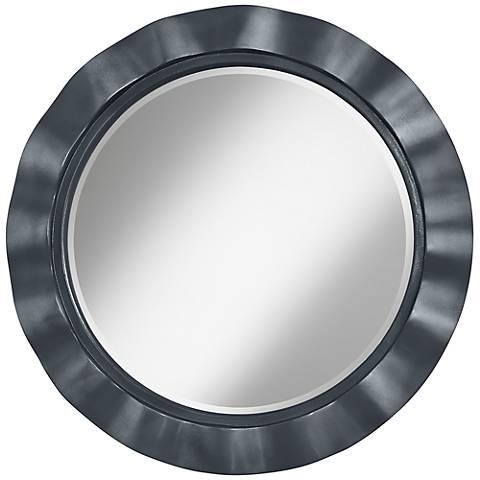 """Gunmetal Metallic 32"""" Round Brezza Wall Mirror"""