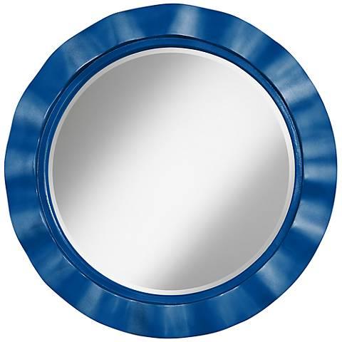 "Ocean Metallic 32"" Round Brezza Wall Mirror"