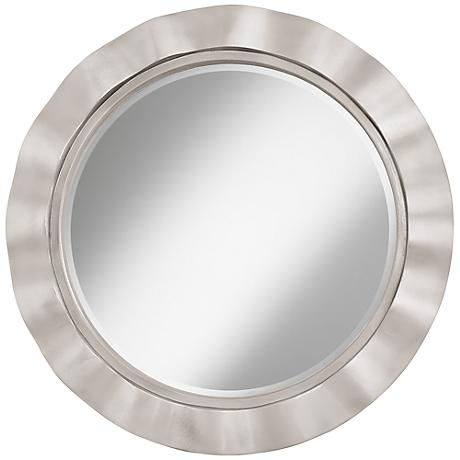 "Silver Lining Metallic 32"" Round Brezza Wall Mirror"