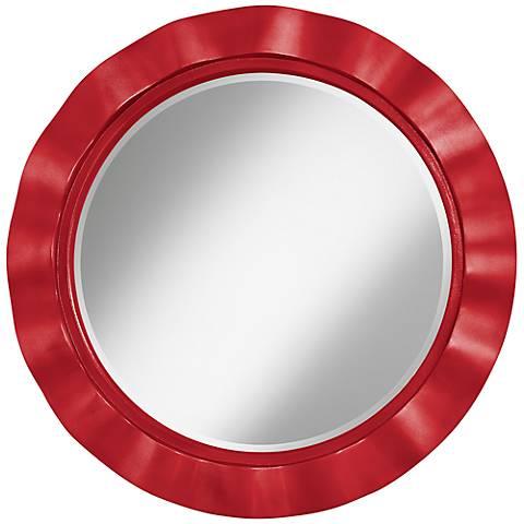 """Sangria Metallic 32"""" Round Brezza Wall Mirror"""