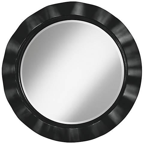 "Caviar Metallic 32"" Round Brezza Wall Mirror"