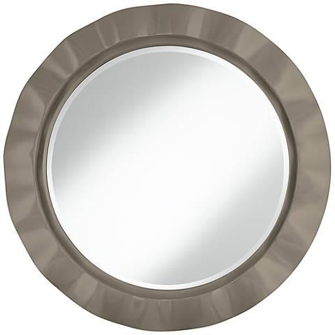 "Backdrop 32"" Round Brezza Wall Mirror"