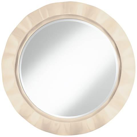 """Steamed Milk 32"""" Round Brezza Wall Mirror"""