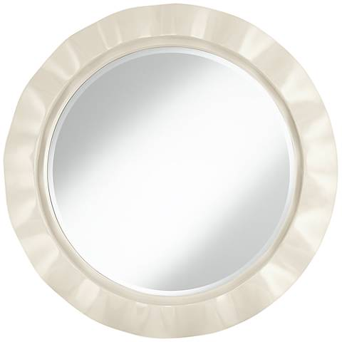 "West Highland White 32"" Round Brezza Wall Mirror"