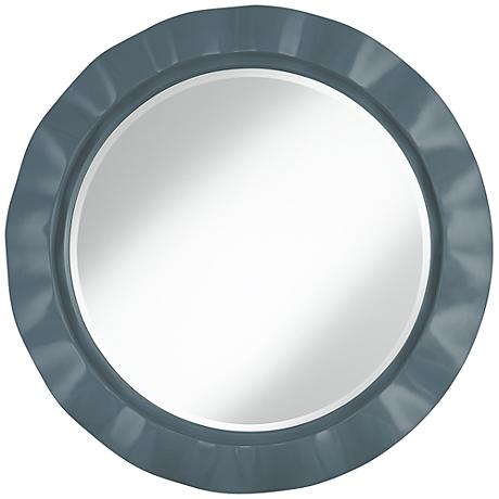 "Smoky Blue 32"" Round Brezza Wall Mirror"