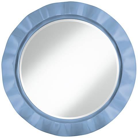"""Placid Blue 32"""" Round Brezza Wall Mirror"""