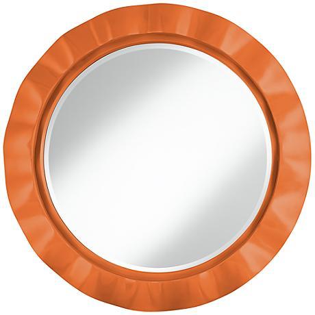 """Celosia Orange 32"""" Round Brezza Wall Mirror"""