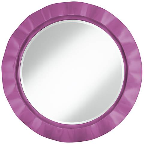 """Pink Orchid 32"""" Round Brezza Wall Mirror"""