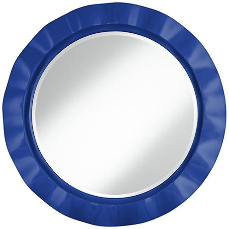 "Dazzling Blue 32"" Round Brezza Wall Mirror"